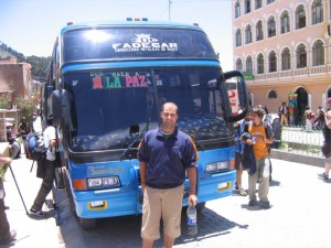 Ônibus de Copacabana a La Paz