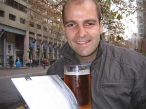 Um choppinho em Santiago